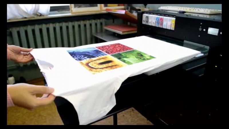 Прямая печать на ткани