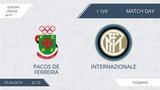 AFL19. Europa League. Day 1. Pacos De Ferreira-Internazionale