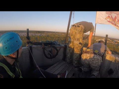 Rope jumping, роупджампинг, Прыжки с веревкой, Труба 46 метров, Казань - Зеленодольск