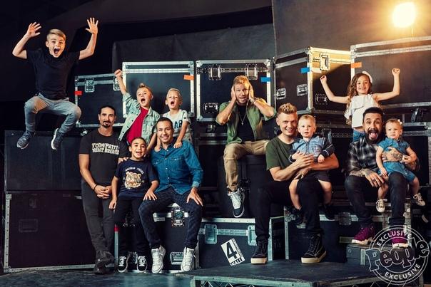 Backstreet Boys with their kids People Magazine, 2018