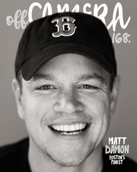 Matt Damon Off Camera Magazine, 2018