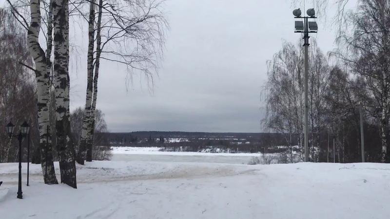 Лыжный спуск в Эко-пансионате Семигорье.