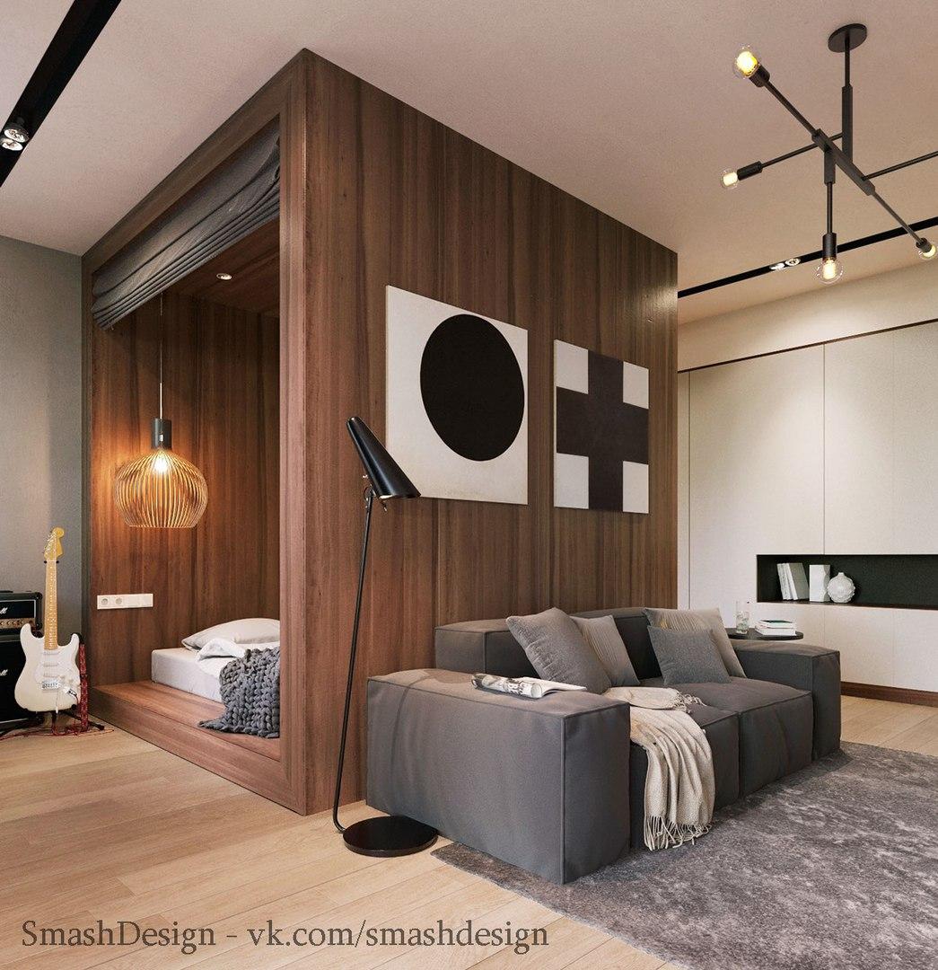 Дизайн небольшой студии