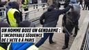 Un homme boxe un gendarme l'incroyable séquence de l'acte 8 à Paris