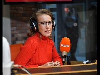 Ксения Собчак в студии радиостанции «Комсомольская правда»