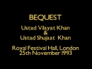 Ustad Vilayat Khan Ustad Shujaat Khan Bequest 2005