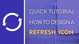 DAY 3 : How To Design A Refresh Icon in Illustrator | Icon Design Week