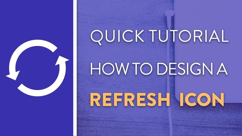 DAY 3 : How To Design A Refresh Icon in Illustrator   Icon Design Week