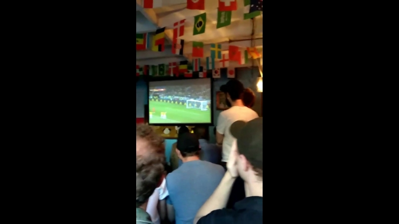 Rob watching England's football game yesterday with friends - 3/06/2018