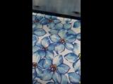 Кулирка фиалки полотно