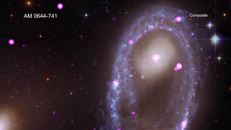 Космология | Чандра | Тур по кольцеобразной галактике AM 0644