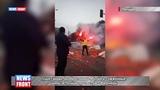 Туша свиньи, разбросанные яблоки и сожженные шины: в Польше протестуют фермеры