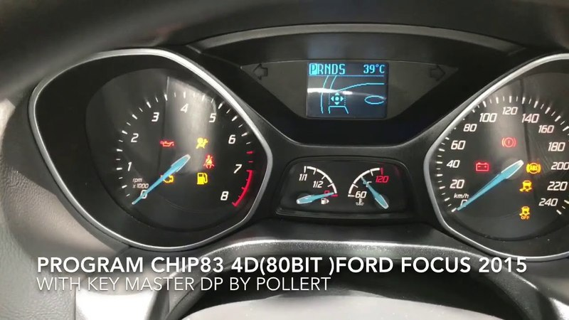PROGRAM CHIP83 4D(80BIT )FORD FOCUS 2015 with Key Master DP by Pollert