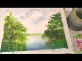 1 Рисуем весеннюю зелень акварелью. Spring foliage in watercolour Tatjana Baker