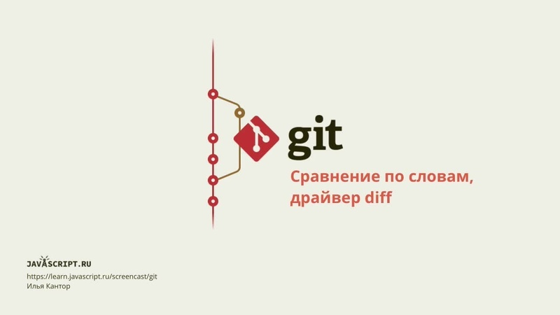8.2 Скринкаст по Git – Просмотр – Сравнение по словам, драйвер diff