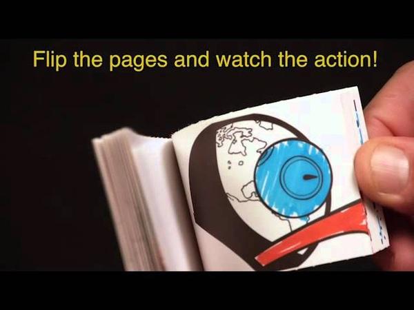 Fliptomania Rocket-Robot Flipbook Kit