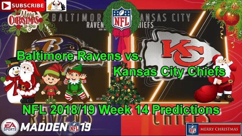 Baltimore Ravens vs. Kansas City Chiefs | NFL 2018-19 Week 14 | Predictions Madden NFL 19
