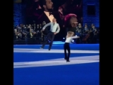 Евгений Плющенко и его пятилетний сын Александр в рамках шоу Европы Opera On Ice