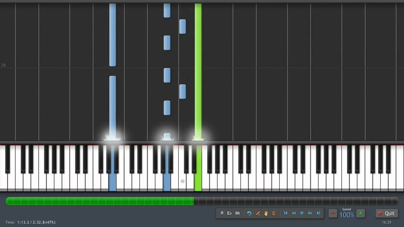 Lord Of The Rings - Many Meetings - Piano Tutorial (100% Speed) Synthesia