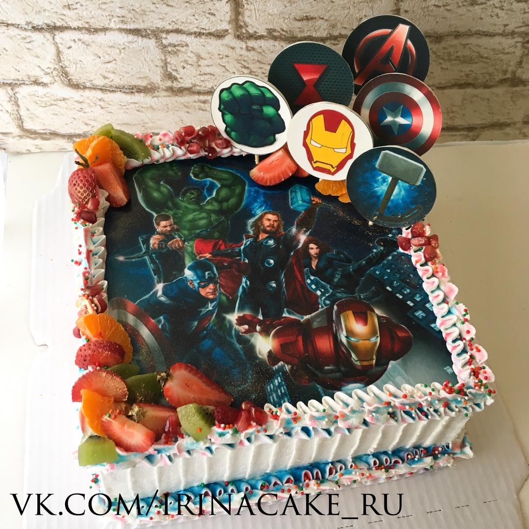 Торт с супергероями (Арт. 451)