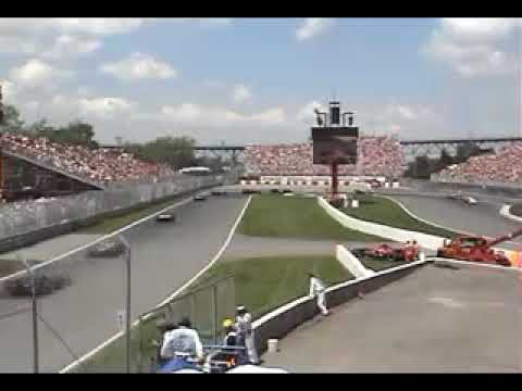 Crash Robert Kubica Montreal 2007 from the stands