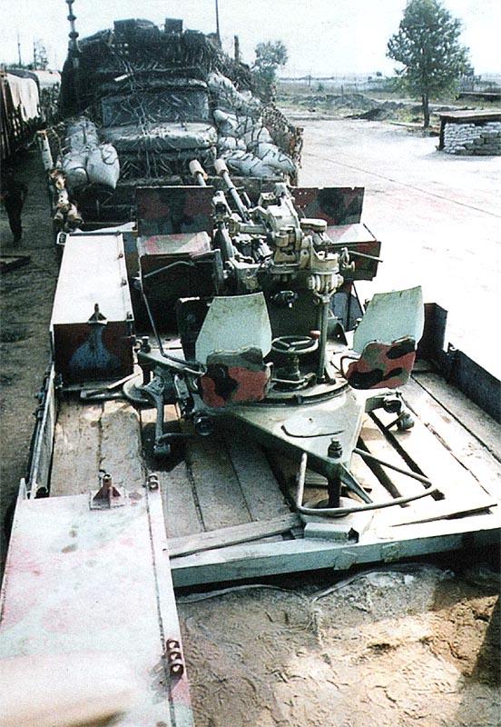ЗУ-23-2 СП «Байкал», вид сзади. Хорошо видно защитное прикрытие радиостанции