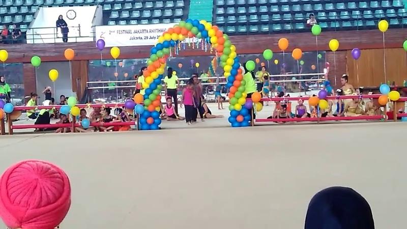 Juara 3, 2nd Festival Jakarta Rhythmic Gymnastic, 8 - 10 year old category @GOR senam Jakarta