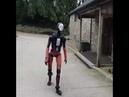 Adam the humanoid robot going for a walk
