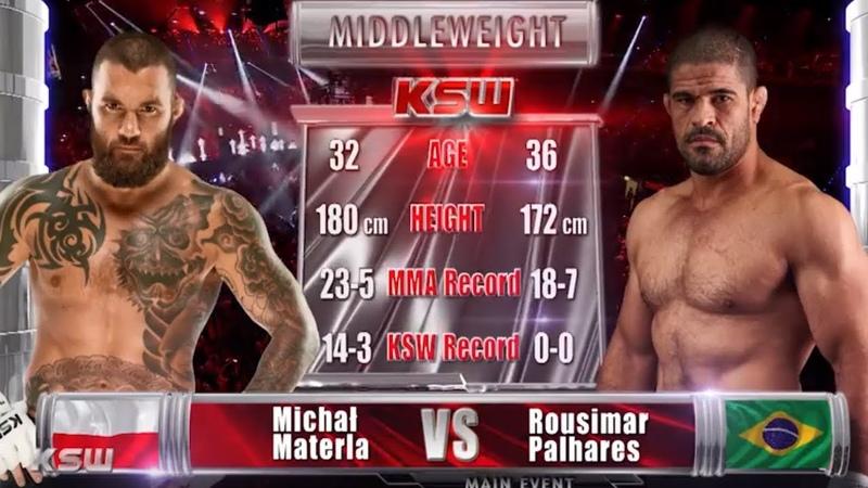 KSW Free Fight Michal Materla vs. Rousimar Palhares