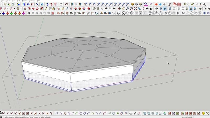 25 SketchUp Моделирование подушки стула с Artisan
