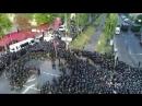 Kyiv Pride 2017 . Жорстокий розгін мирної акції противників. Зйомка з квадрокоптера
