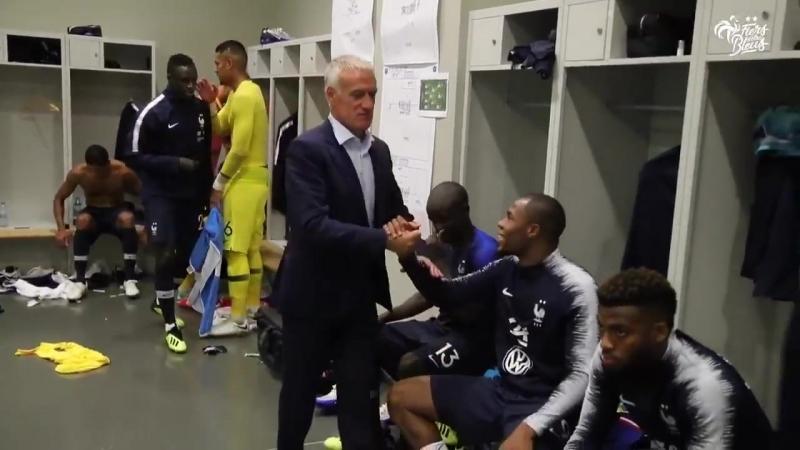 Plongez vous au cœur du vestiaire de lEquipe de France avant et après match face à l'Allemagne 0 0