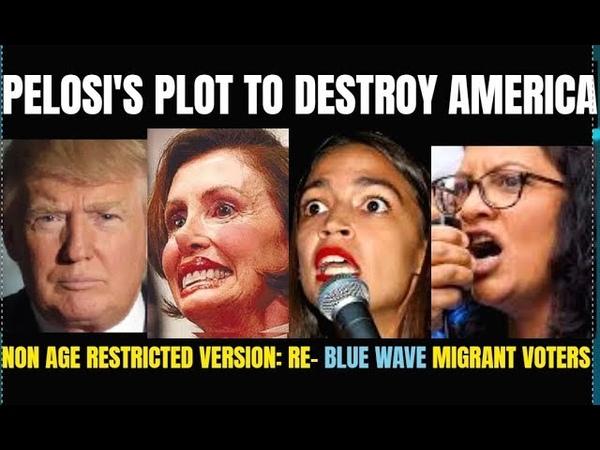 PELOSI'S PLOT to Destroy America, targets Trump. Promotes Migrant/Blue Voting Blocks,Open Borders