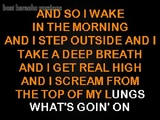 4 Non Blondes Karaoke - What's Up (What's Goin' On) Karaoke