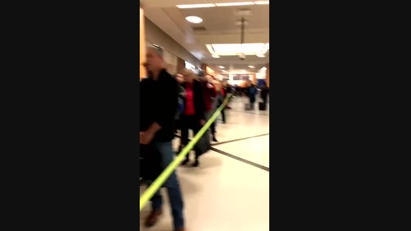 The line waiting to get through TSA security at the Atlanta airport this morning