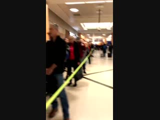 The line waiting to get through tsa security at the atlanta airport this morning