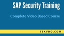 SAP Security Training Complete SAP Security Video Based Course