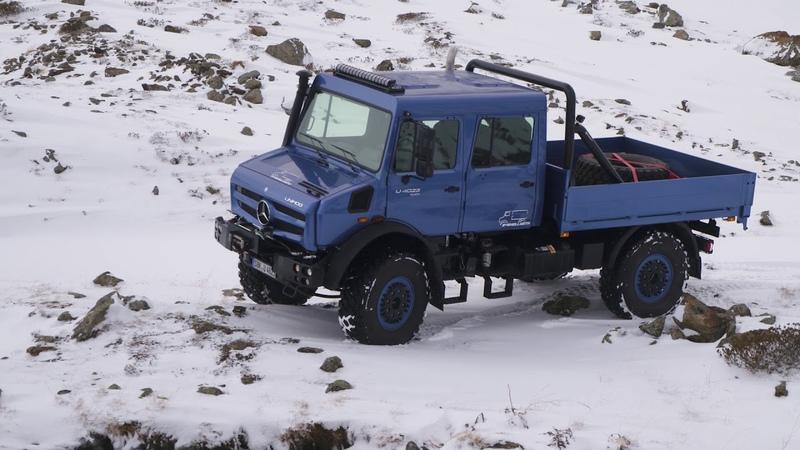Mercedes Benz Unimog U4023 violet blue