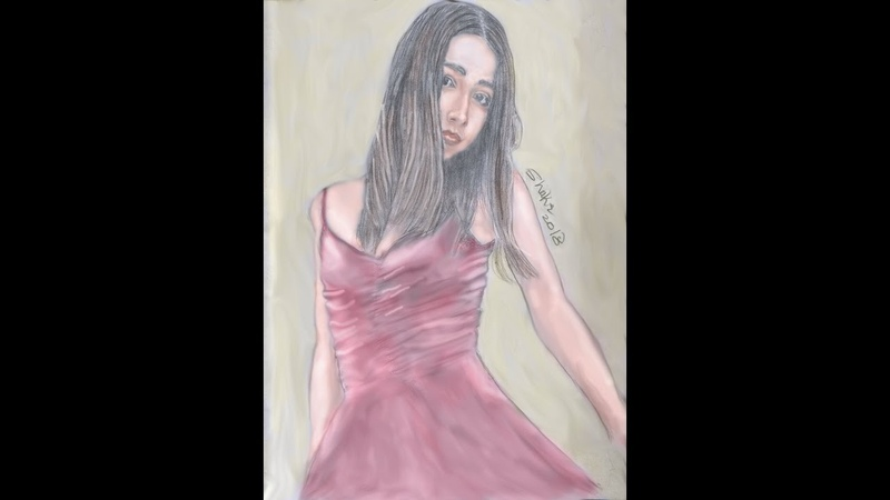 One of my drawings drew a girl with a pencil.............واحدة من رسوماتي رسم بنت بالقلم ا1