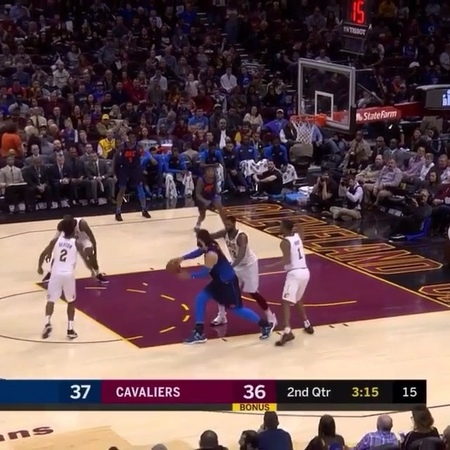 "Ball Don't Lie on Instagram: ""With authority😳😳 . . . . . . . . . thunder oklahomacity oklahomacitythunder cavs cleveland nba basketball dun..."