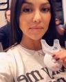 Kourtney Kardashian on Instagram whitening my teeth bts @hismileteeth #HiSmile #TeethWhitening #ad
