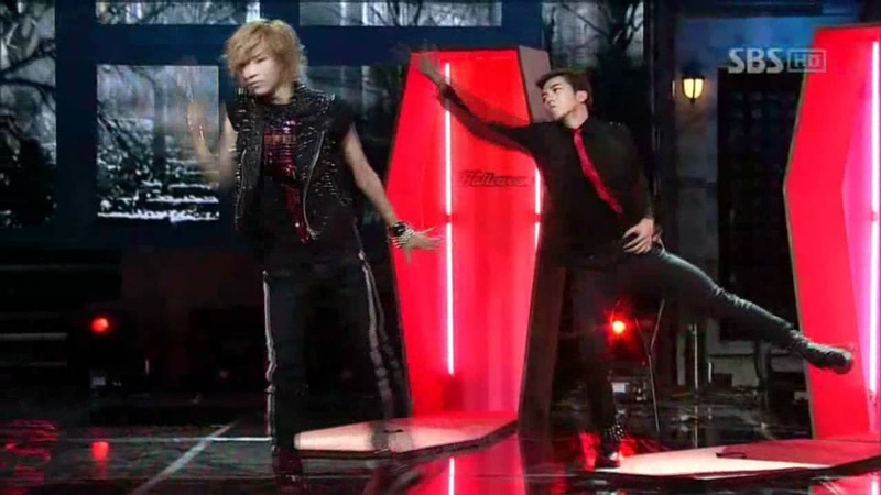 Gikwang, Taemin, Wooyoung, Chansung, Minzy - Thriller @ SBS Inkigayo 인기가요 101031