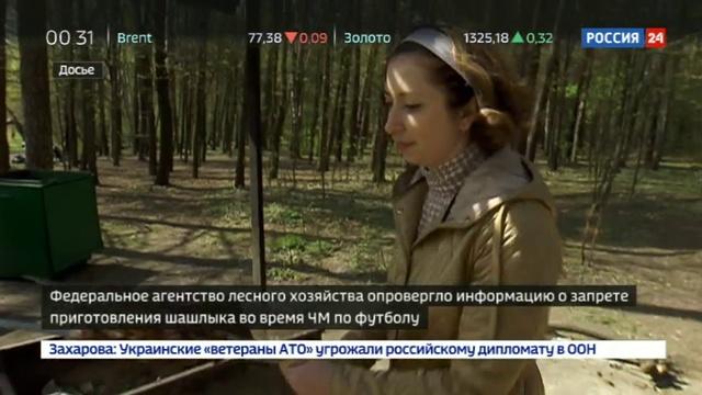 Новости на Россия 24 Футбол шашлыкам не помеха