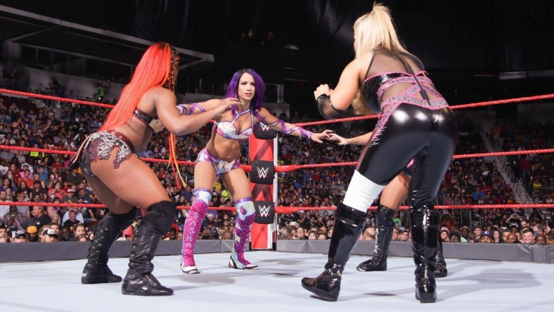 SB_Group| Full match: Sasha Banks vs. Natalya vs. Alexa Bliss vs. Ember Moon | Fatal 4-Way match | RAW: June 11, 2018