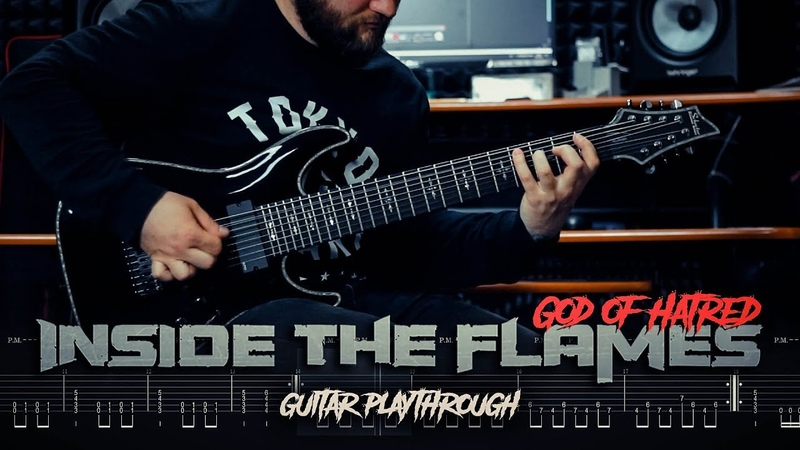 Inside the Flames - God of Hatred - Tab in video || Schecter Hellraiser C8 Mercuriall U530