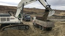 Liebherr 984 Excavator Loading Trucks And Operator View - Sotiriadis Bross