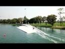 Lisa Baloo Sanne Meijer wakeboarding at Thai Wake Park