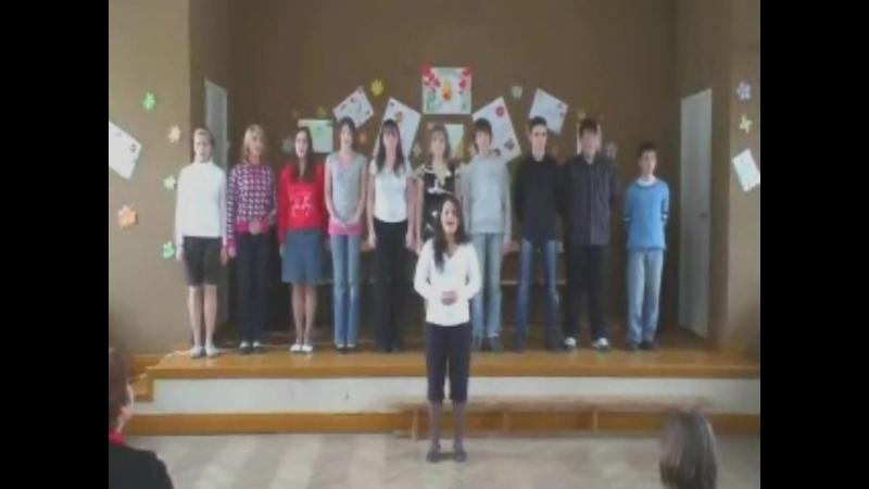 8марта Юхкентали 2008 год хору 2 3 месяца Самый первый состав Настя поёт песню про мамонтёнка