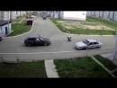 Момент наезда авто на 8-летнего ребенка в Чебоксарах