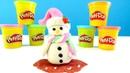 Spielspaß mit PlayDoh. Wir machen ein Schneemann. Video für Kinder